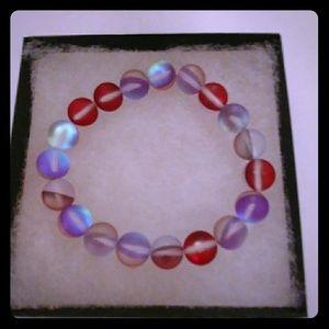 Cherry Red Moonstone Bracelet